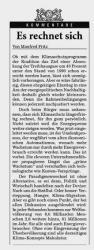 Rhein-Neckar Zeitung, Heidelberg, 6.12.2007, Kommentar