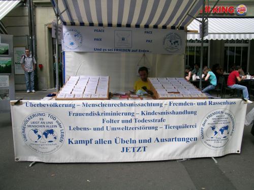 Infostand in Bern