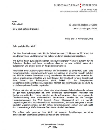 Geburtenstopp Petition In Bezug Auf Amtliche Reaktionen Figu Schweiz