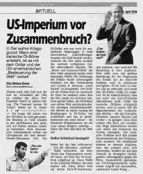 US-Imperium vor Zusammenbruch?