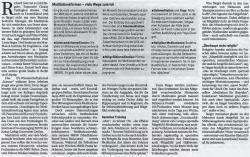 Mannheimer Morgen, Samstag 25. Januar 2014