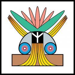 Friedenssymbol farbig