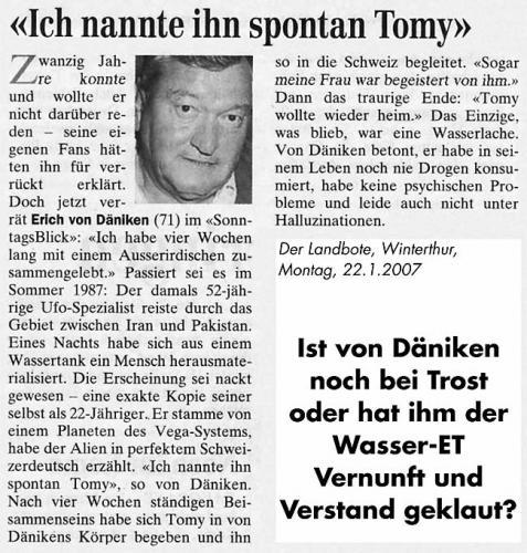 Der Landbote, 22.1.2007